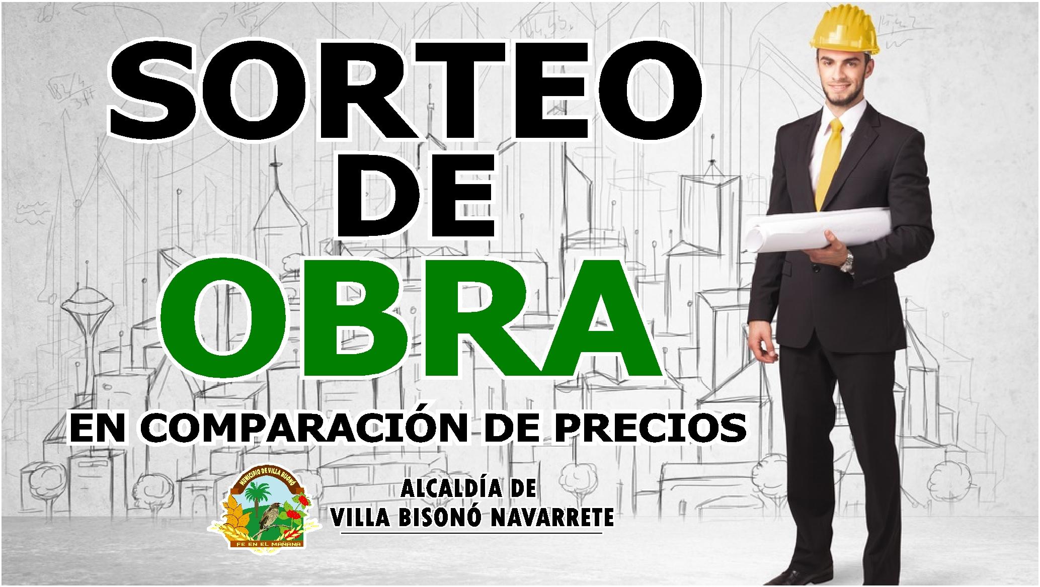 """SORTEO DE OBRAS """"COMPARACIÓN DE PRECIO"""""""