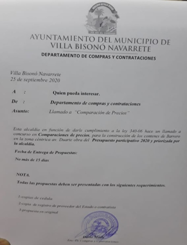 Llamado a licitación para construcción de los contenes de Barrero.